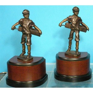 GOLF CADDY w/ BAG & CLUBS BOOKENDS