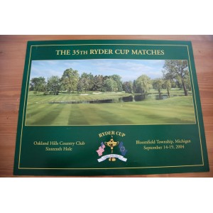 35th Ryder Cup Poster Oakland Hills by artist Richard Chorley