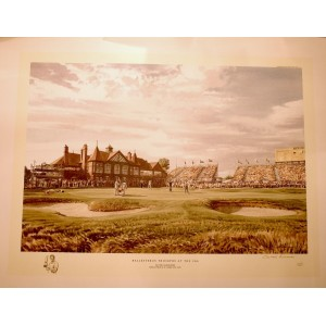 "Arthur Weaver - ""Ballesteros Triumphs at the 18th, Royal Lytham and St Annes Golf Club"""