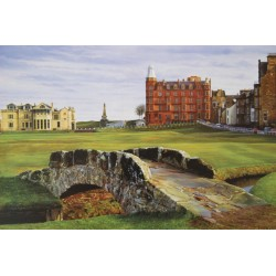 St Andrews The Old Course-Swilcan Bridge , Signed Open Edition Paper Print