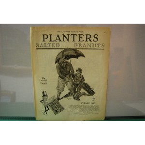 Vintage Advertising-1928 Golf Nut Golfer Caddy Rain Planters Peanut
