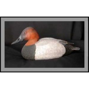 Canvasback Drake Wood Carving