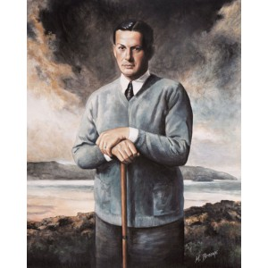 Bobby Jones 1930's Portrait, Giclee on Canvas, Framed