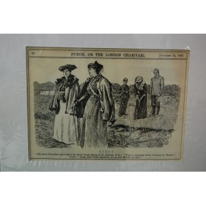 1895 Antique Print of Lady Playing Golf